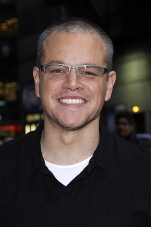 Matt Damon, shaved head