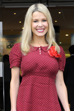 Melinda Messenger opens the Ideal Home Exhibition at Earls Court.