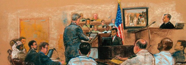 Janet Hamlin&#39;s &#39;Sketching Guantanamo: Court Sketches of the Military Tribunals, 2006-2013&#39;