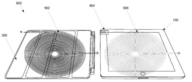 Wireless charging cover for Apple iPad