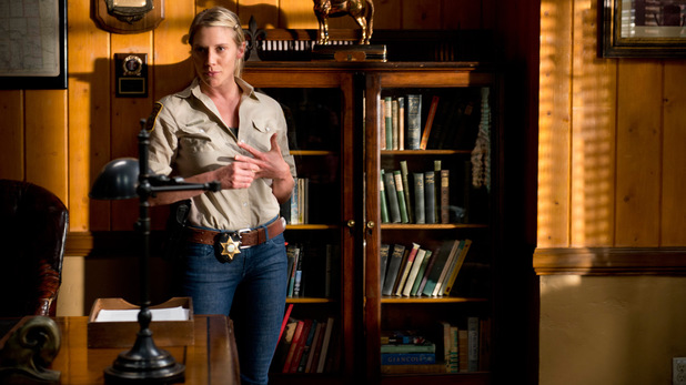Katee Sackhoff as Victoria &#39;Vic&#39; Moretti in &#39;Longmire&#39;