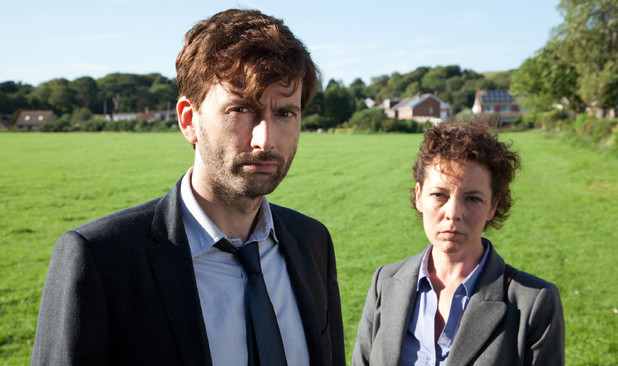Broadchurch Episode 2: David Tennant as Alec Hardy and Olivia Colman as Ellie Miller
