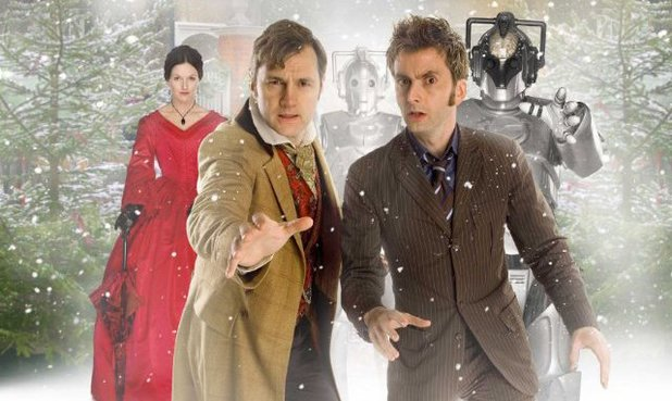 David Morrissey and David Tennant in 'The Next Doctor'