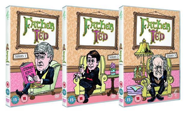 Father Ted DVD series 1, 2 and 3 new illustrated covers by Tony Millionaire
