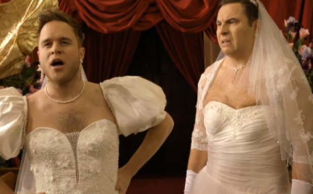Olly Murs and David Walliams fight over Simon Cowell
