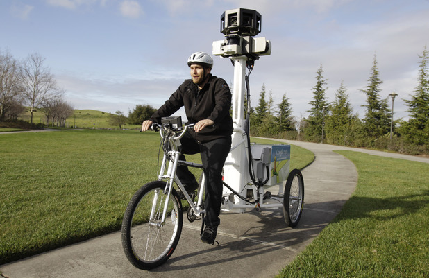 Google Street view tricycle in action