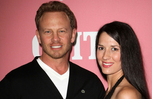 Ian Ziering and his wife Erin