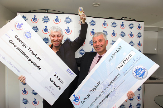 George Traykov wins the lottery twice