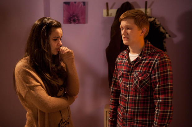 Katy Armstrong and Chesney Brown in Coronation Street