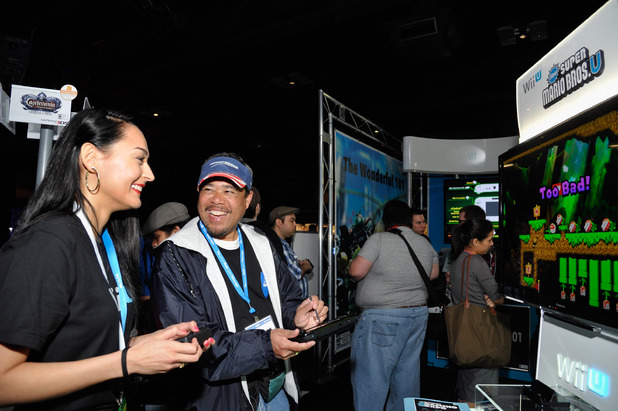 Gamers experience new and unreleased games for the new Nintendo Wii U console at the SXSW conference in Austin, Texas
