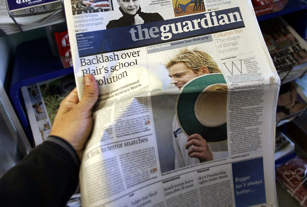 A copy of The Guardian