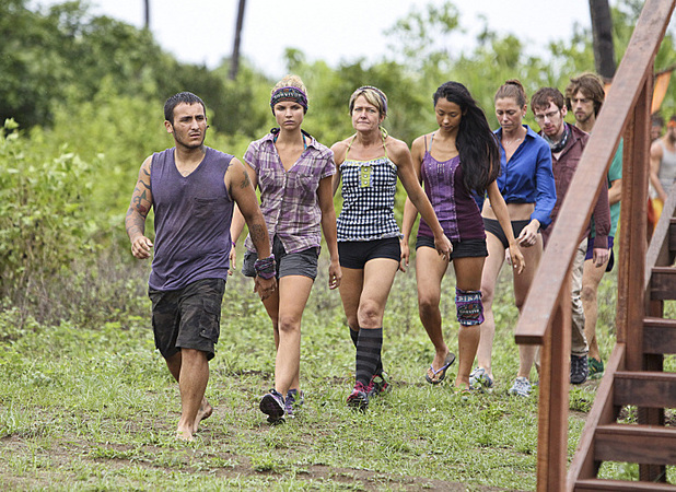 "Survivor: Caramoan - Fans vs Favourites: ""Persona Non Grata. Brandon Hantz leads the Bikal Tribe to the Immunity Challenge during the fifth episode."