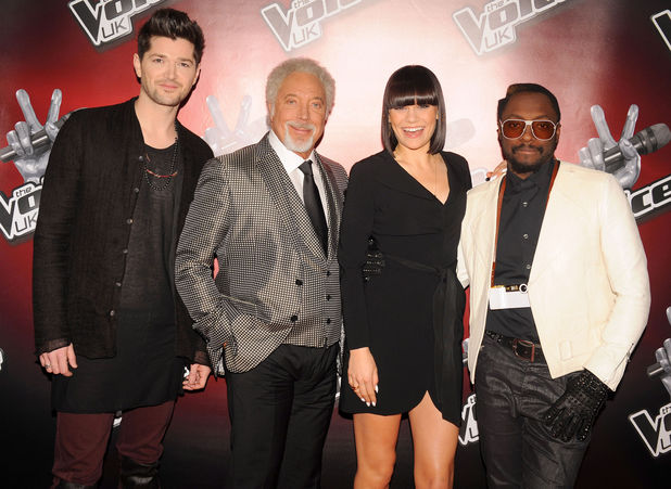 Danny O'Donoghue, Tom Jones, Jessie J and will.i.am