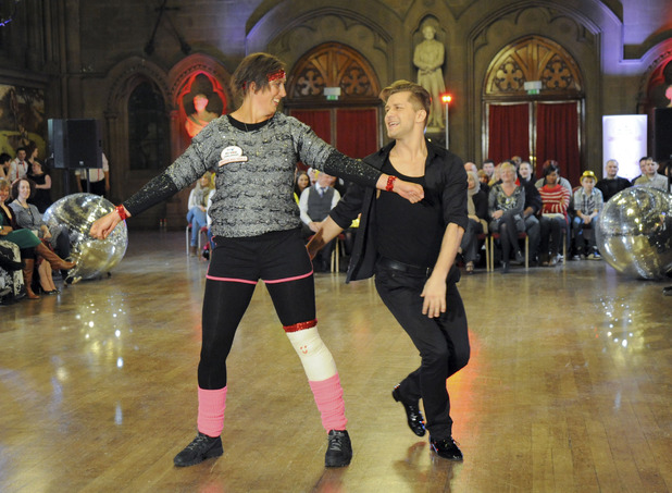 Miranda Hart and Strictly Come Dancing's Pasha Kovalev performing for Comic Relief on The One Show
