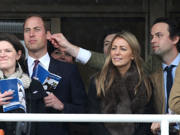 Prince William, Cheltenham races, ear, pulled, friends