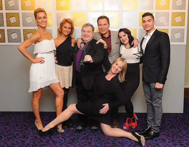Natalie Lowe, Aliona Vilani, Russell Grant, Richard Arnold, Dani Harmer, Louis Smith and Fern Britton, TRIC 2013 Awards