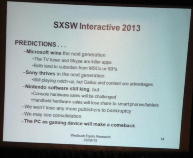 SXSW predictions Michael Pachter
