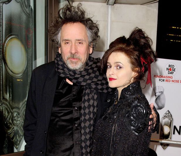 Helena Bonham Carter, Tim Burton,  The Book of Mormon Red Nose Day Gala, the Prince of Wales Theatre, London