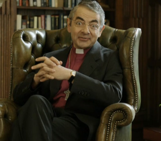 Rowan Atkinson as the new Archbishop of Canterbury