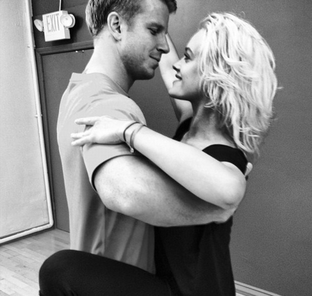Sean Lowe and Peta Murgatroyd practise their foxtrot