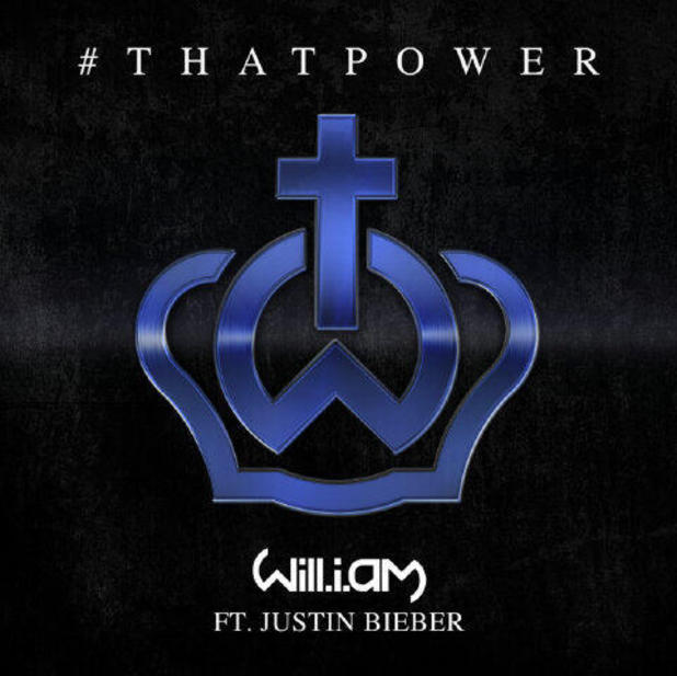 will.i.am ft. Justin Bieber '#ThatPower' single artwork.