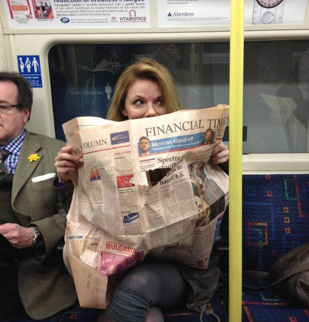 Geri Halliwell on the tube.