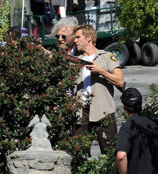 Rutger Hauer on the set of 'True Blood' in Los Angeles