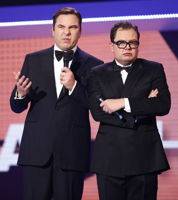 David Walliams and Alan Carr during Comic Relief.