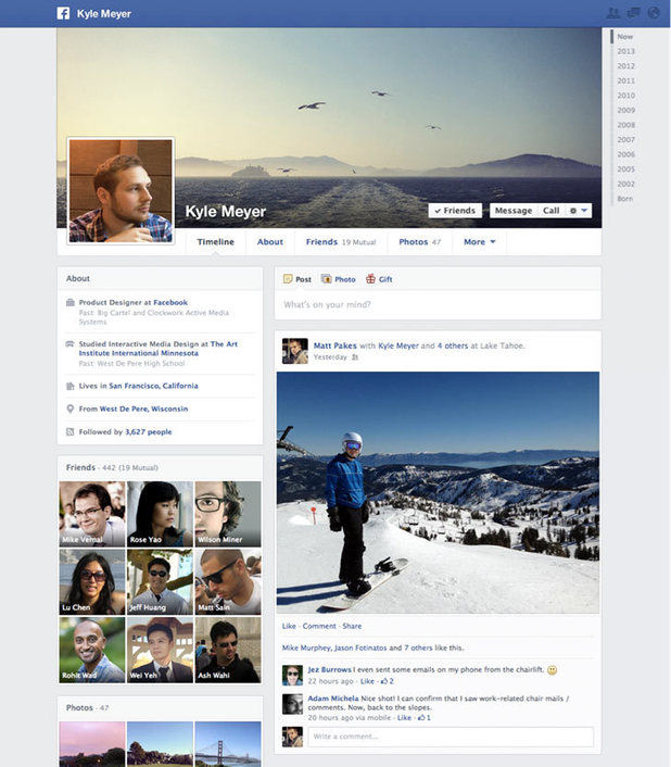 March 2013 Improvements to the Facebook Timeline