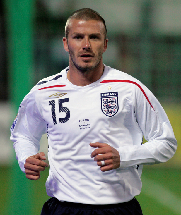 David Beckham, shaved head, football, 2008
