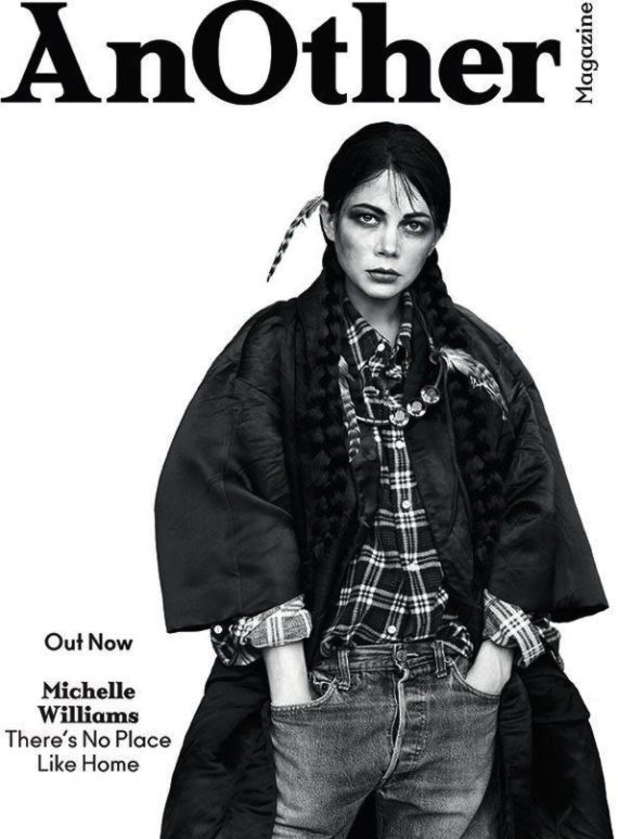 Michelle Williams is pictured for AnOther magazine apparently dressed in Native American garb