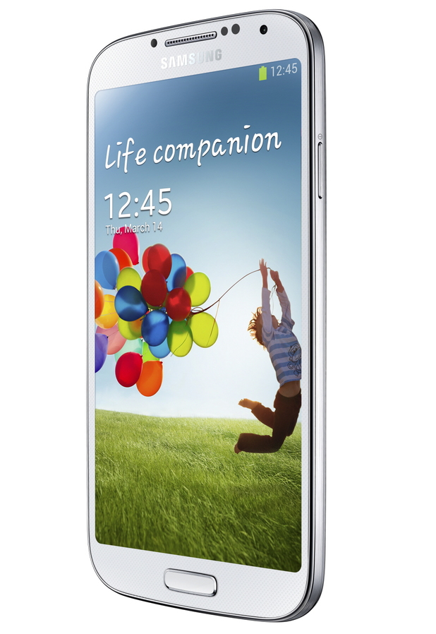 Samsung Galaxy S4 front view - white model