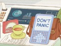 Google doodle features a towel, a cup of tea and Marvin the Paranoid Android.