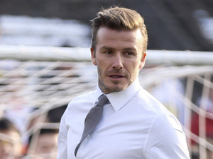 David Beckham, Beijing, junior football promotional with students at No.2 High school