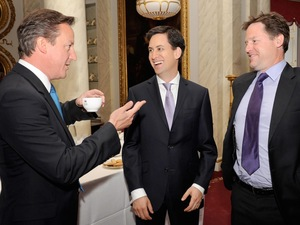David Cameron, Nick Clegg and Ed Miliband mark Prince Phillip's 90th birthday, June 2011