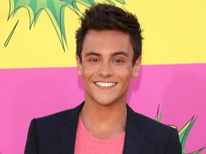 Tom Daley arrives for the Kids Choice Awards.