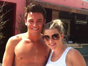 Tom Daley in LA with Anna Williamson