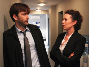 Broadchurch Episode 3: David Tennant as Alec Hardy and Olivia Colman as Ellie Miller