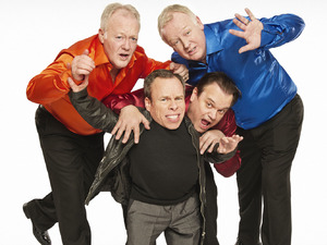 Keith Chegwin, Warwick Davis, Shaun Williamson, Les Dennis in 'Life's Too Short'