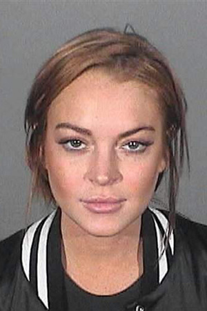Lindsay Lohan, mugshot, no contest to reckless driving