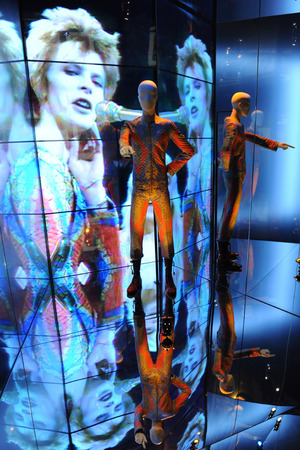 Press view of 'David Bowie Is' exhibition at the V&A