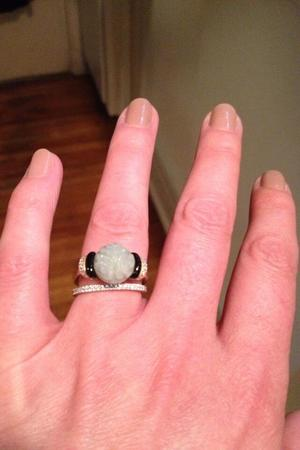 Paget Brewster posts a photo of her engagement ring on Twitter.