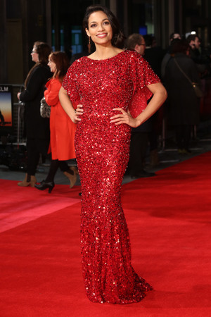 Rosario Dawson, Jenny Packham, sequined gown, Trance