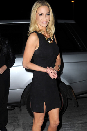 Sarah Harding, Girls Aloud, Ten tour, Manchester, tour party