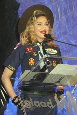 24th Annual GLADD Media Awards - Madonna presents the Vito Russo Award to Anderson Cooper