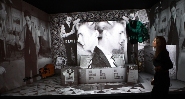Shot of 'David Bowie Is' exhibition at the V&A