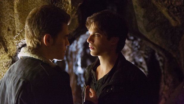 Paul Wesley as Stefan and Ian Somerhalder as Damon in The Vampire Diaries S04E15: 'Stand By Me'