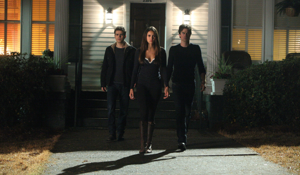 Paul Wesley as Stefan, Nina Dobrev as Elena, and Ian Somerhalder as Damon in The Vampire Diaries S04E15: 'Stand By Me'