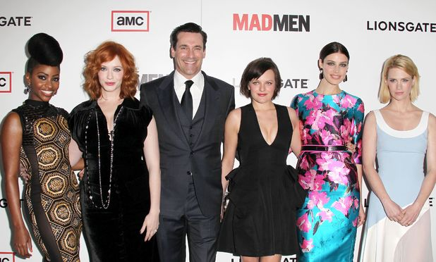 Teyonah Parris, Christina Hendricks, Jon Hamm, Elisabeth Moss, Jesse Pare and January Jones at &#39;Mad Men&#39; premiere.