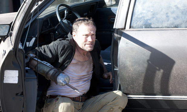 Merle Dixon (Michael Rooker) in The Walking Dead S03E14: 'Prey'